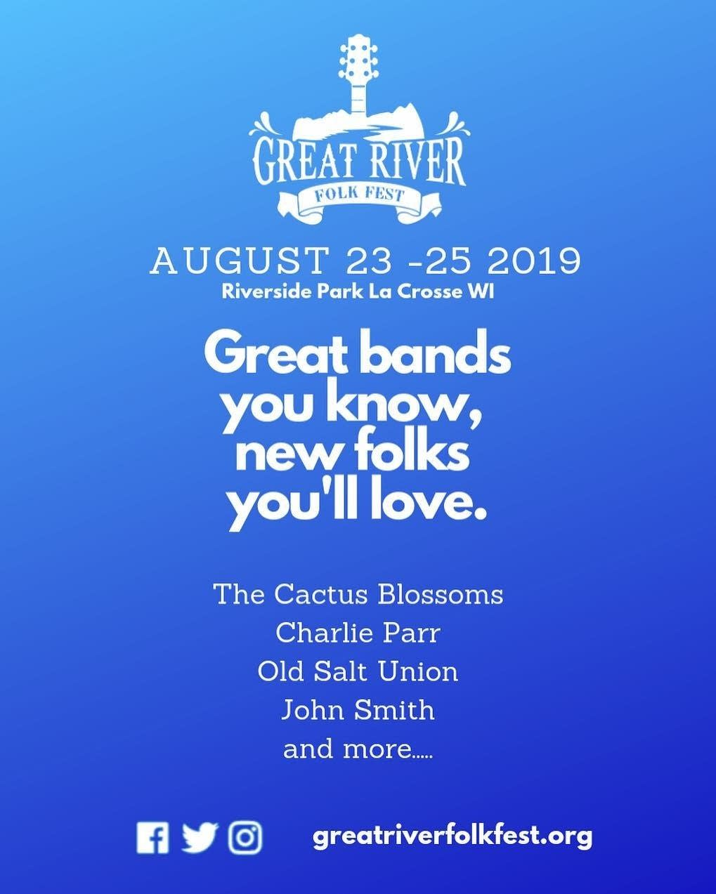 Great River Folk Fest 2019 poster