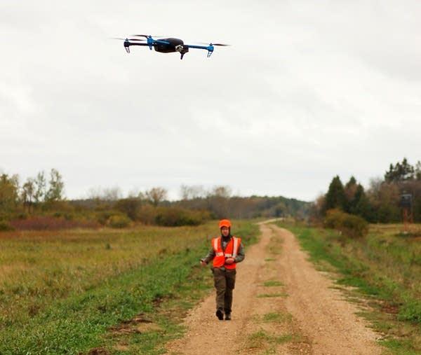Mark Ditmer watched a UAV land.