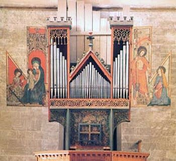 1390 Anonymous organ at Valere Castle Church, Sion, Switzerland