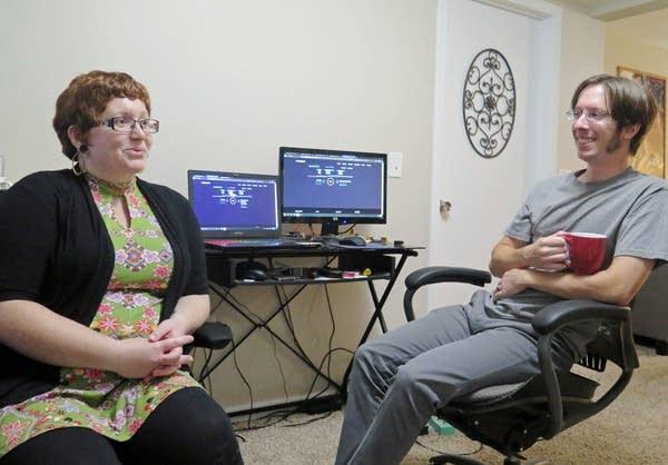 Monica King Von Holtum tests her Frontier Communications internet speed.