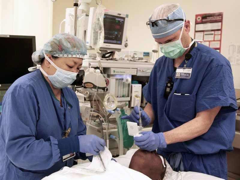 Dr. Brian Chesebro in the operating room.