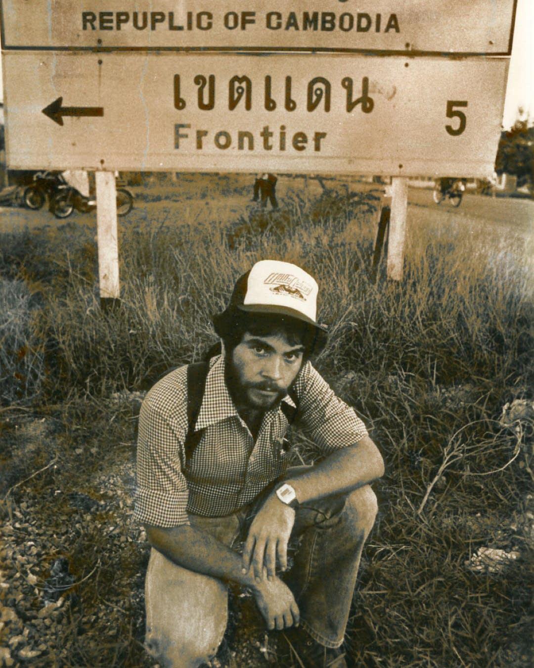 Greg Barron along the Thai-Cambodia border