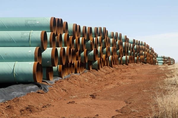 Pipe stockpile
