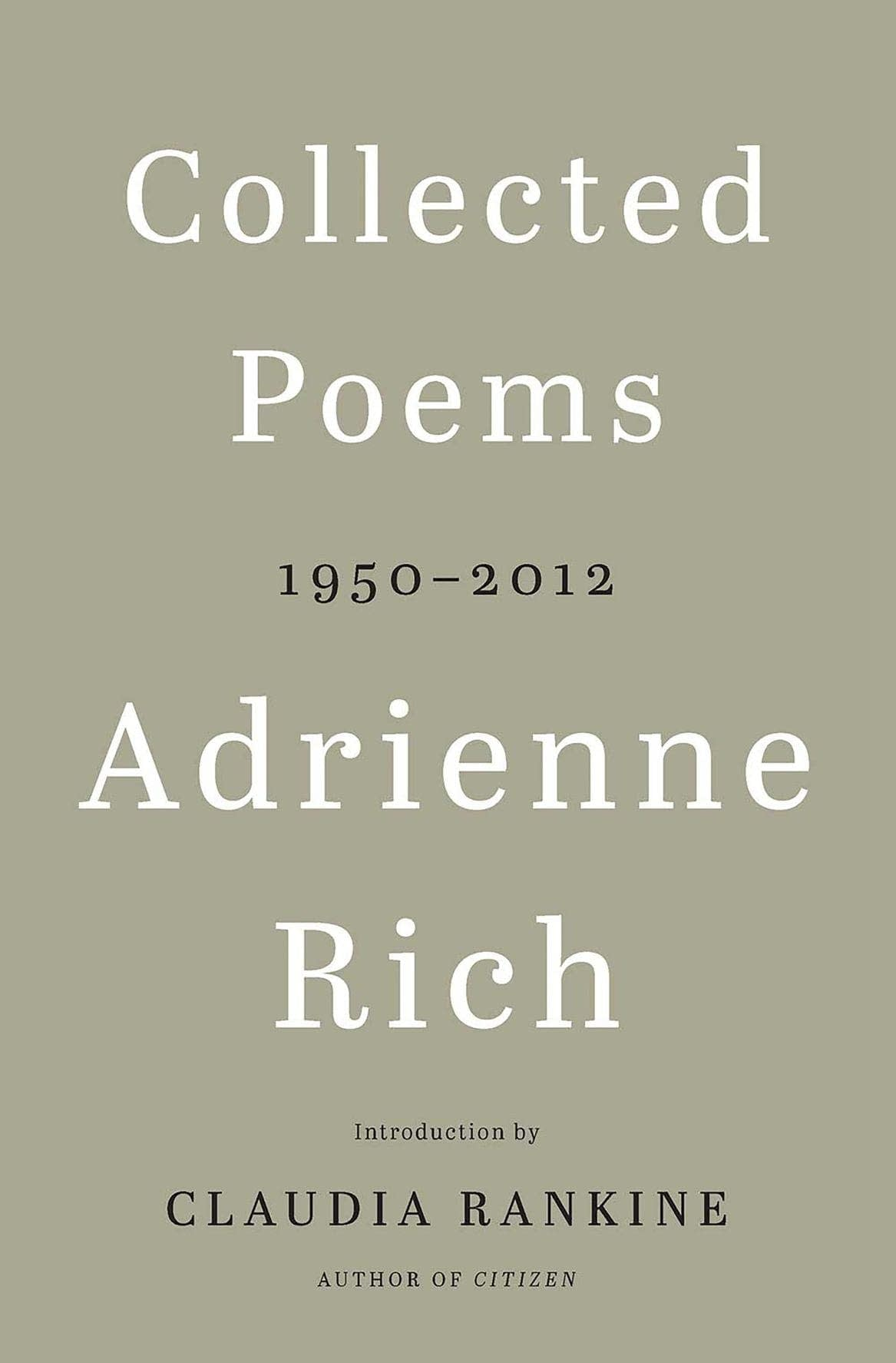 'Collected Poems' by Adrienne Rich