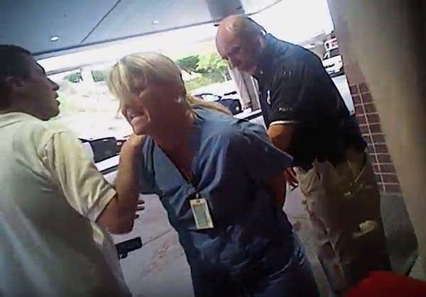 Nurse Alex Wubbels is arrested by a Salt Lake City police officer