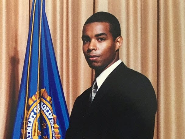 Terry Albury at his special agent graduation in 2005.