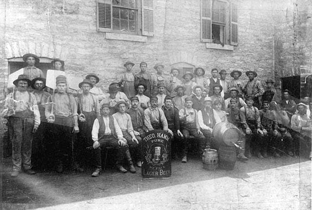 Hamm's Brewery employees, circa 1880-1885