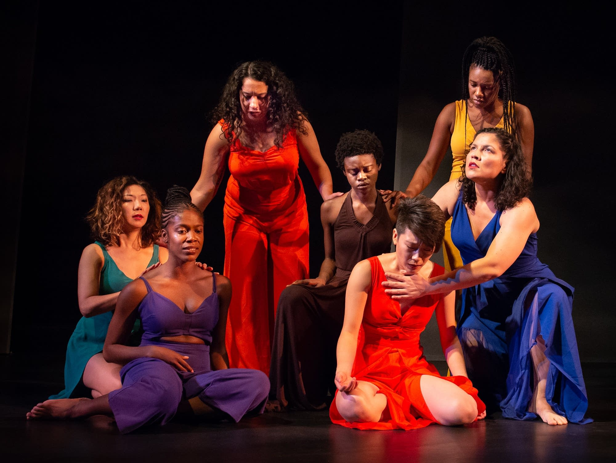 The cast of 'for colored girls'