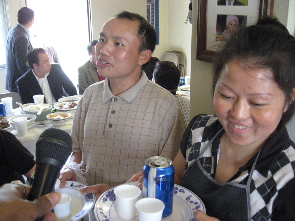 Kou Hang and his wife
