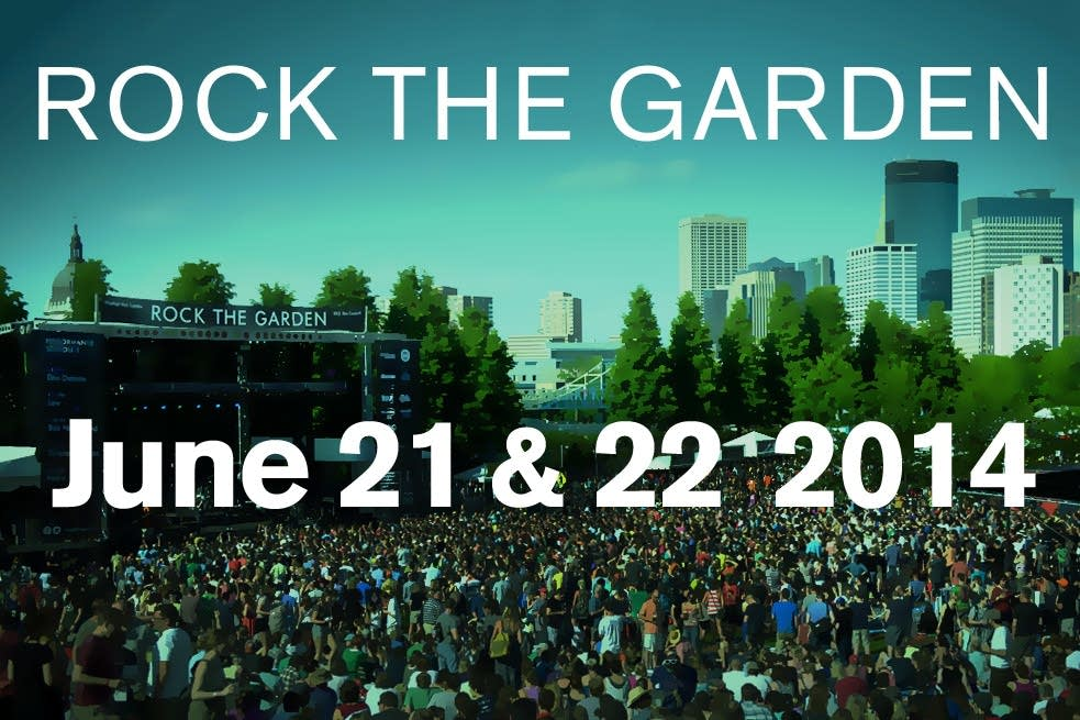 Rock The Garden 2014, save the date