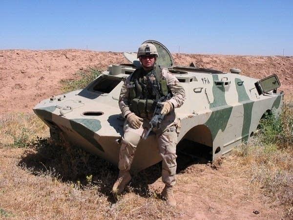 Cheney wearing body armor