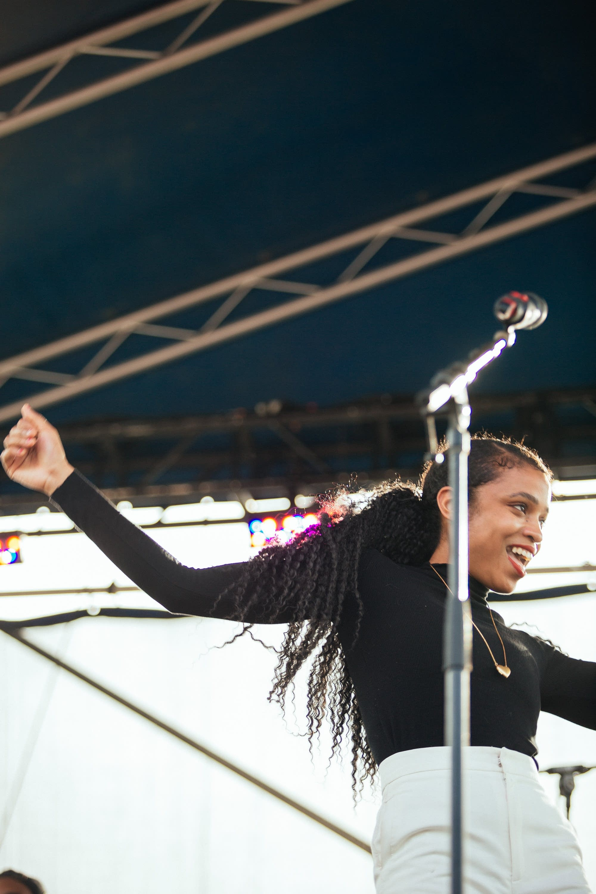 Adia Victoria performs at Rock the Garden 2019