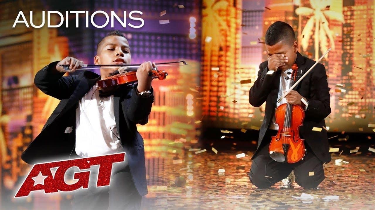 Violinist Tyler Butler-Figueroa performs on 'America's Got Talent'