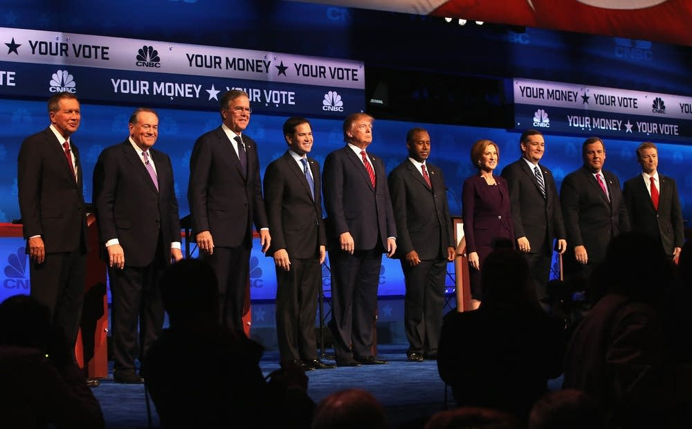 The October 2015 Republican debate