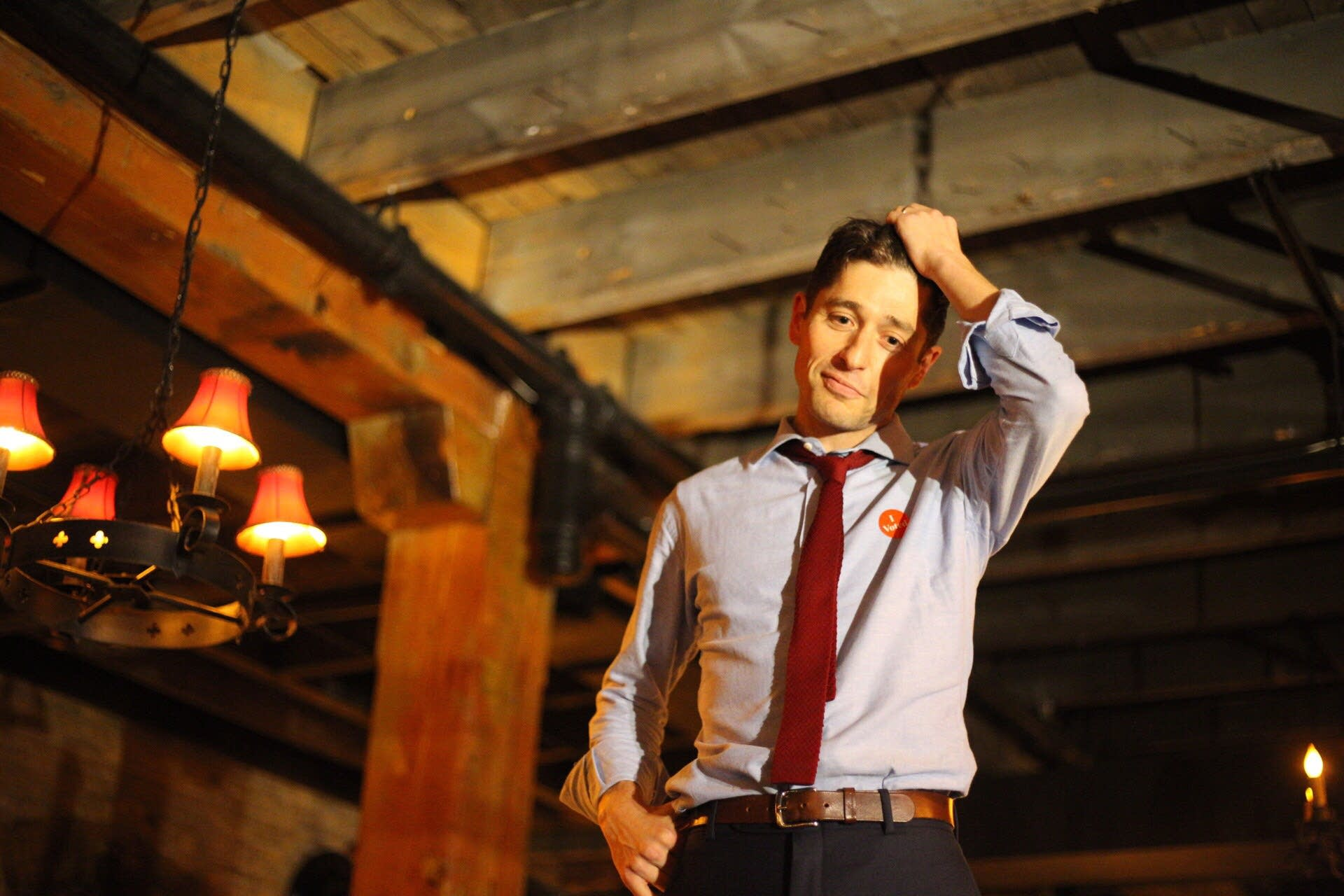 Jacob Frey thanks his supporters.