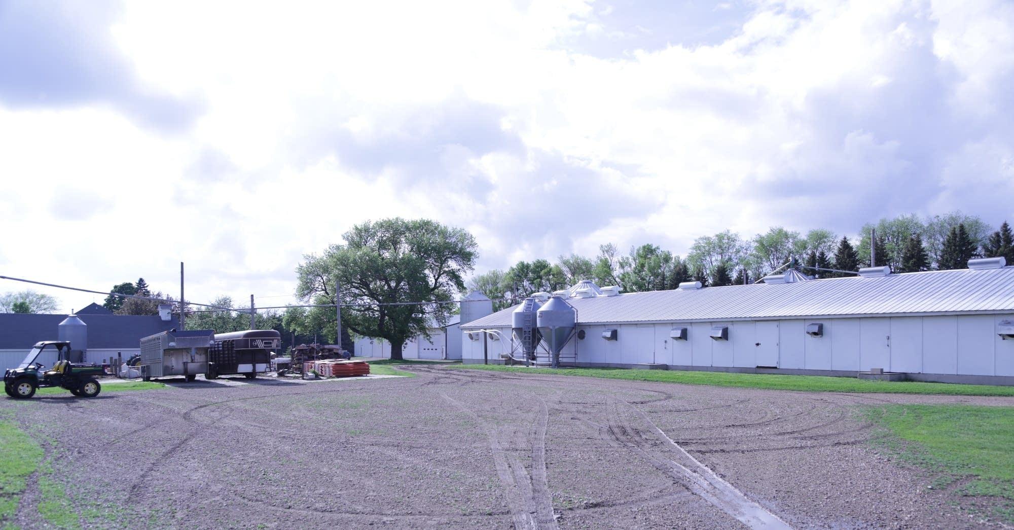 One of the barns on the Stevermer's farm.