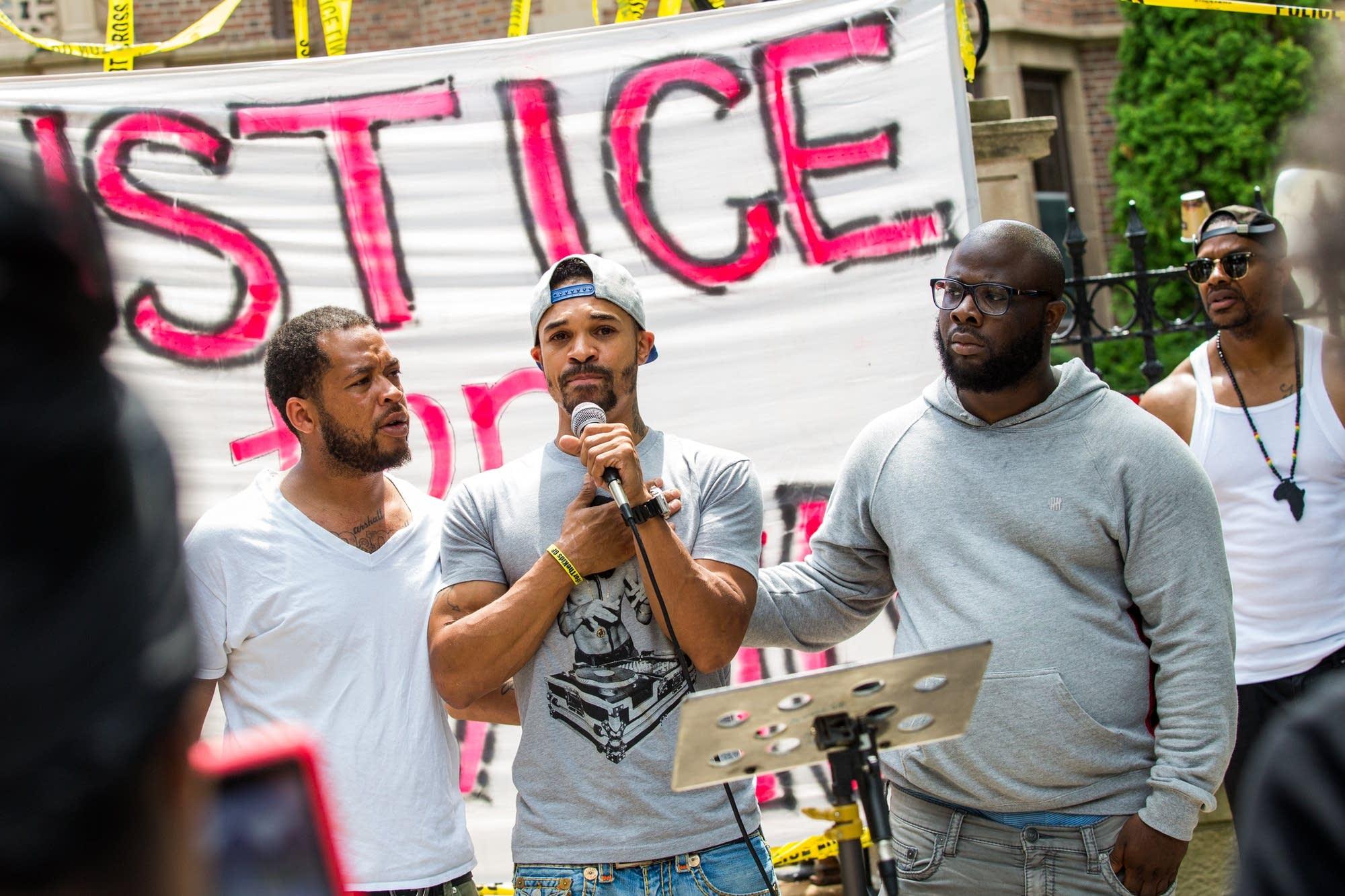 Philando Castile's cousin Antonio Johnson.