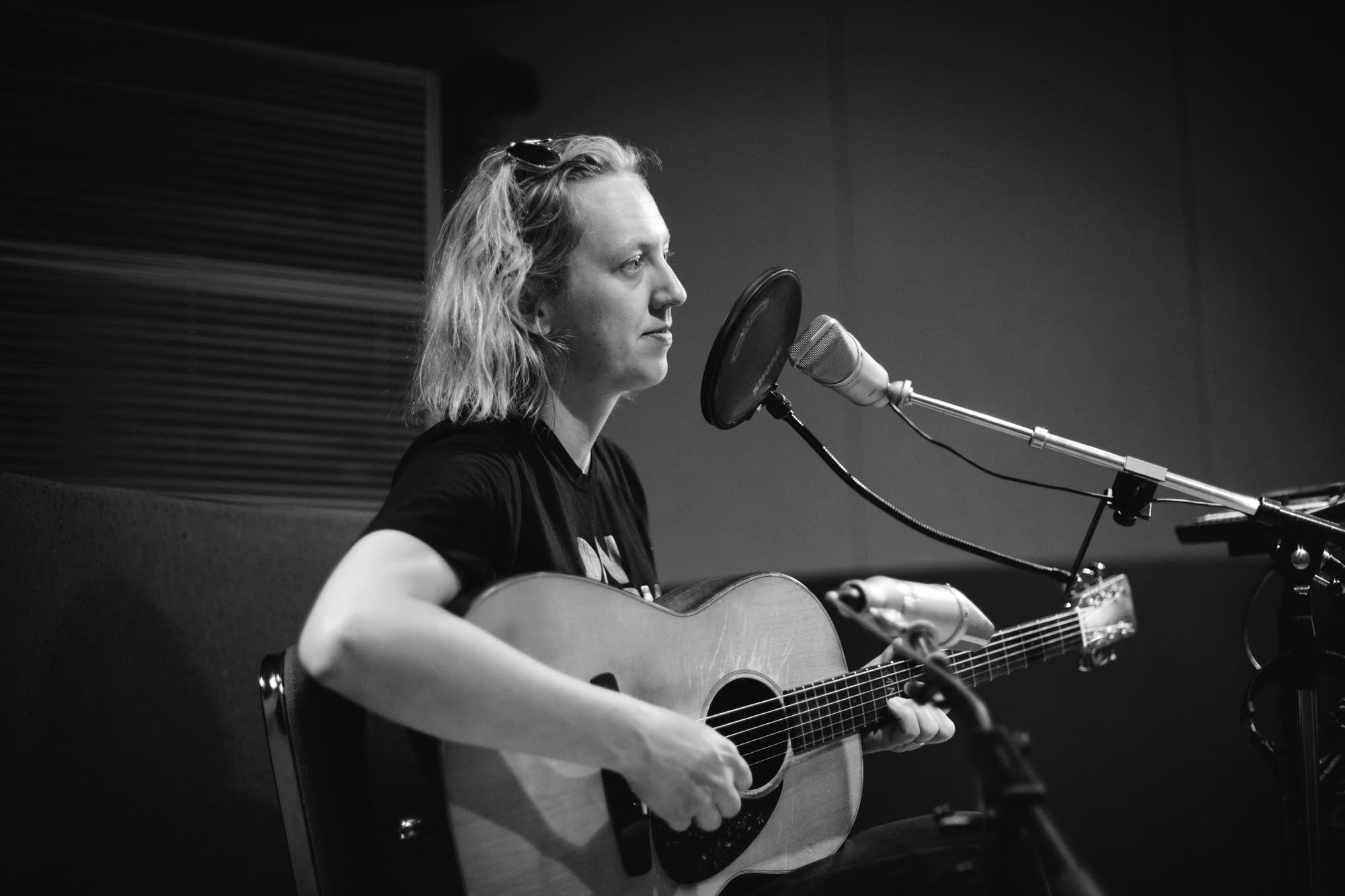 Ana Egge performs in the Radio Heartland studio