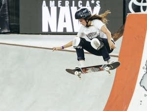 Stillwater native Nicole Hause catches some air.