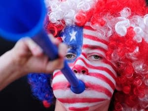 A young USA fan at the 2010 FIFA World Cup