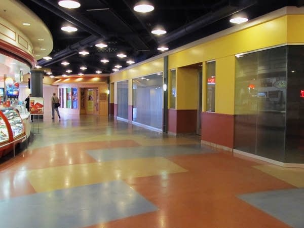 Empty interior of Block E