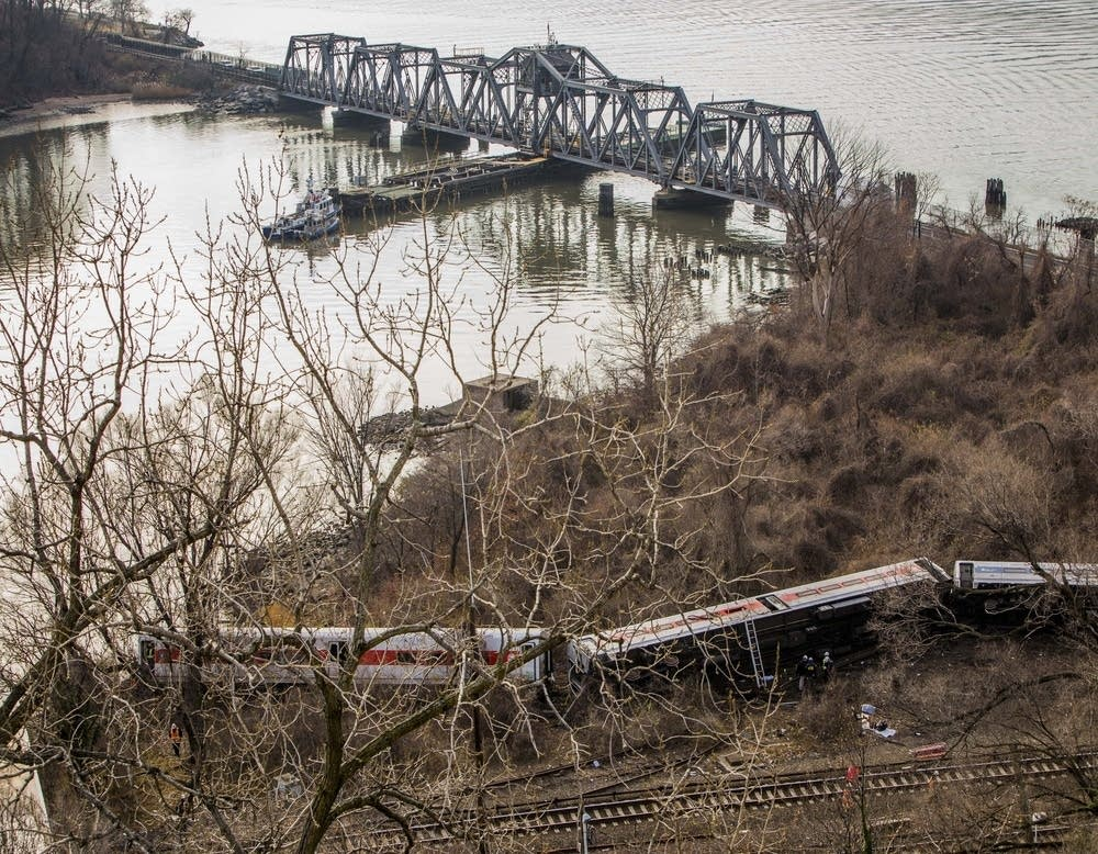 New York City train derails