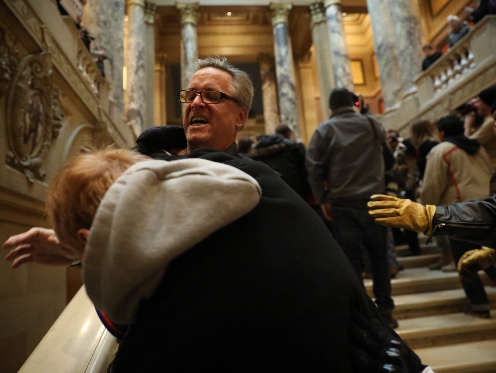 Supporters of President Trump and protesters clashed at the Capitol.