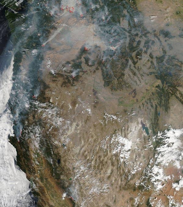 Wildfires across the northwest