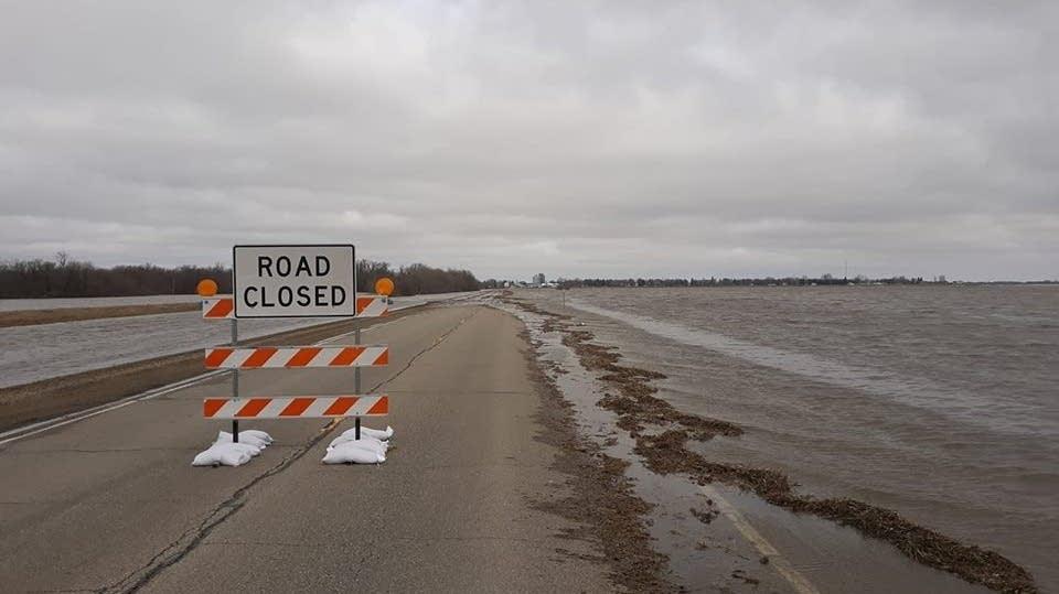 Flooding on U.S. Hwy. 75 south of Halstad