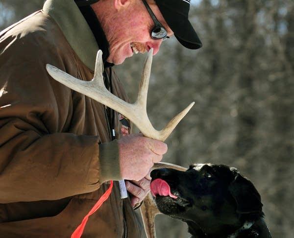 Tom Dokken and his dog