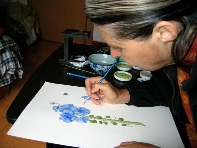 Dianne Aigaki painting