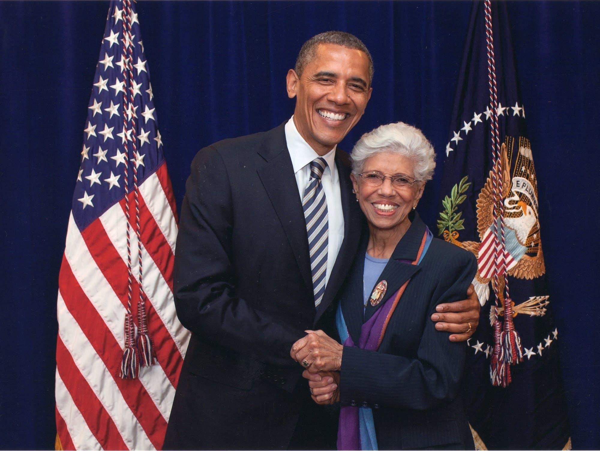 Josie Johnson with President Barack Obama.