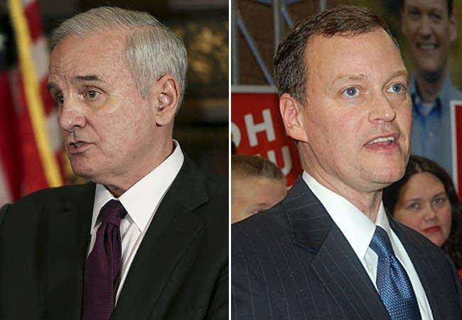 Gov. Mark Dayton and Jeff Johnson