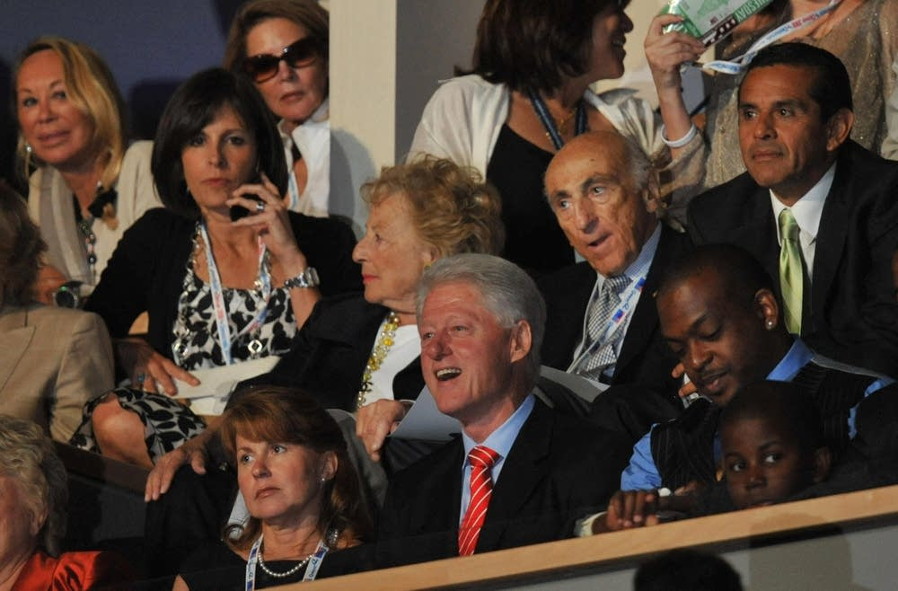 Former US president Bill Clinton at the DNC