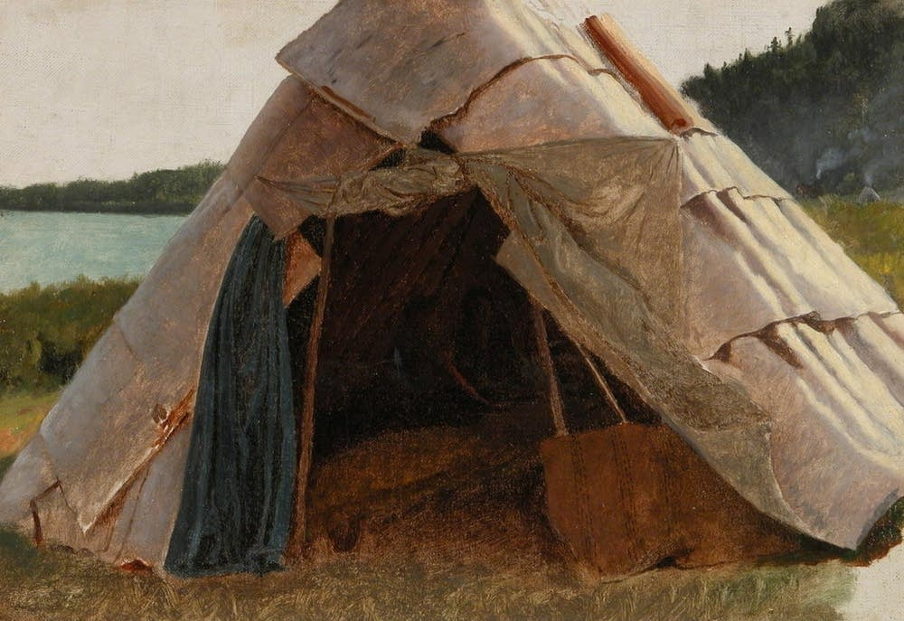 """Ojibwe Wigwam at Grand Portage"" (1856-57)"