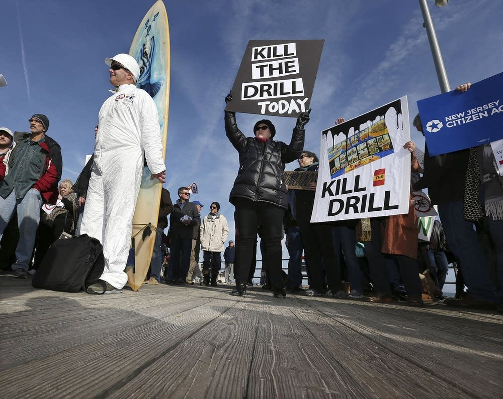 Oil and gas protest