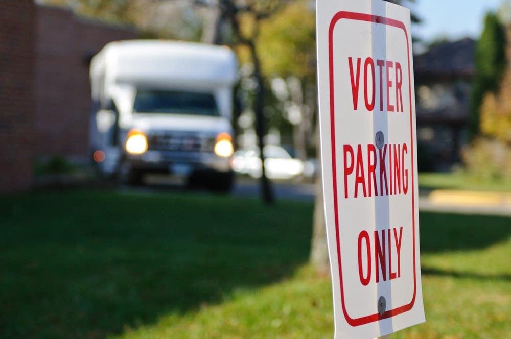 Voter parking signs