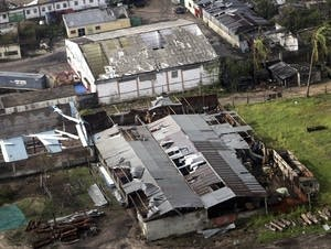 An aerial view of part of the damage in Beira, Mozambique.