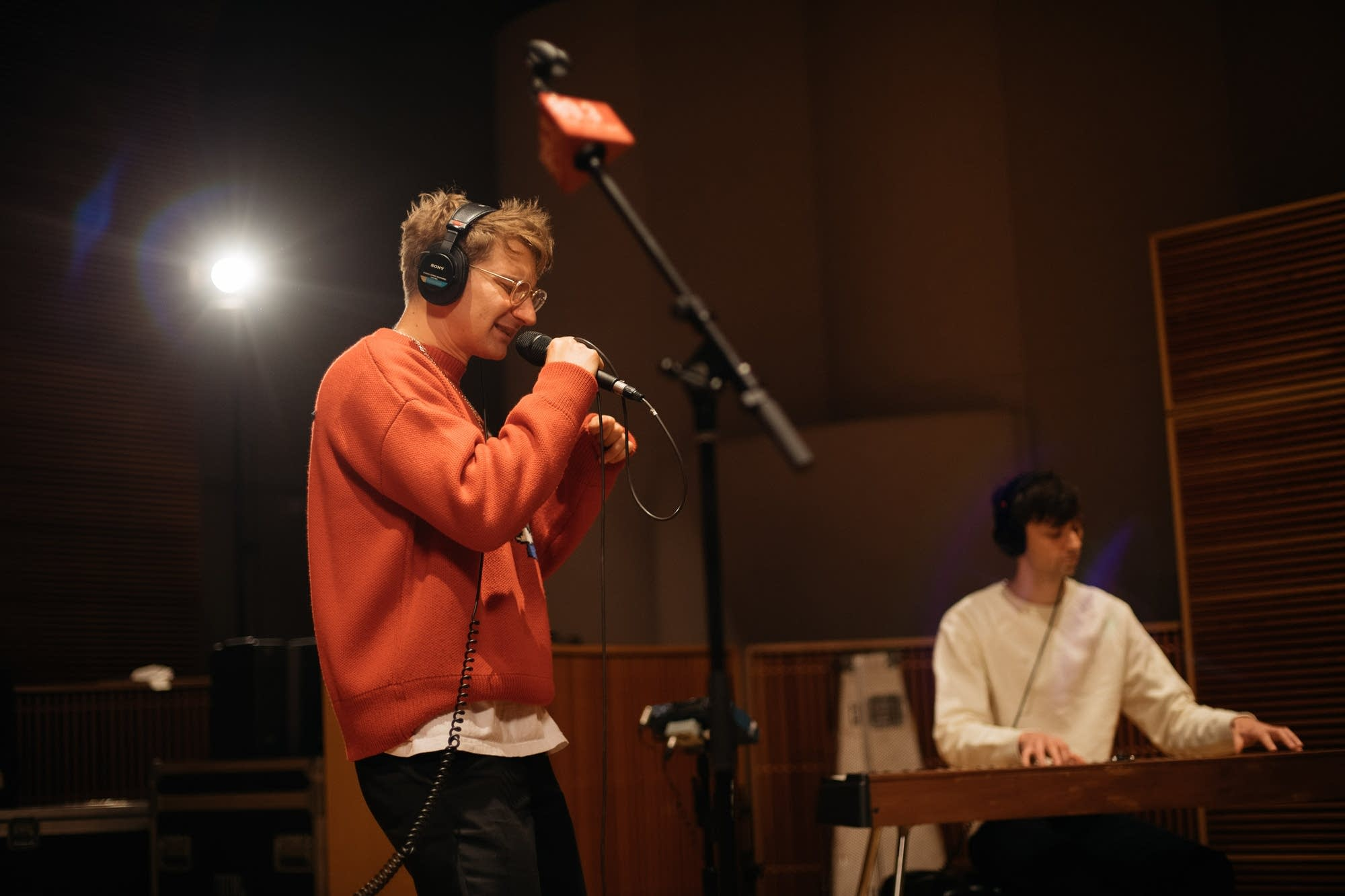 Glass Animals perform in The Current studio