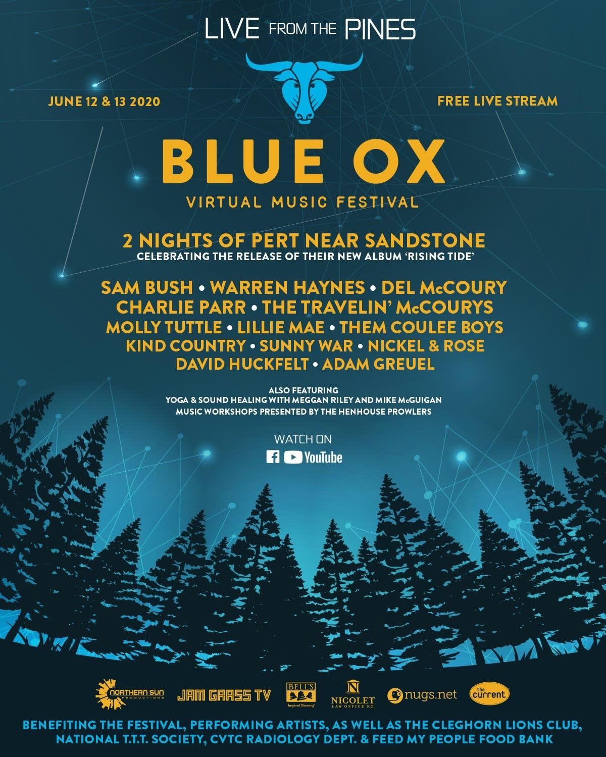 Blue Ox Virtual Music Festival Full Line up
