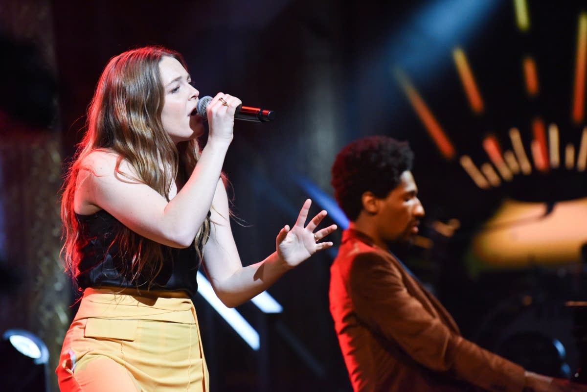 Maggie Rogers performs on 'The Late Show with Stephen Colbert'