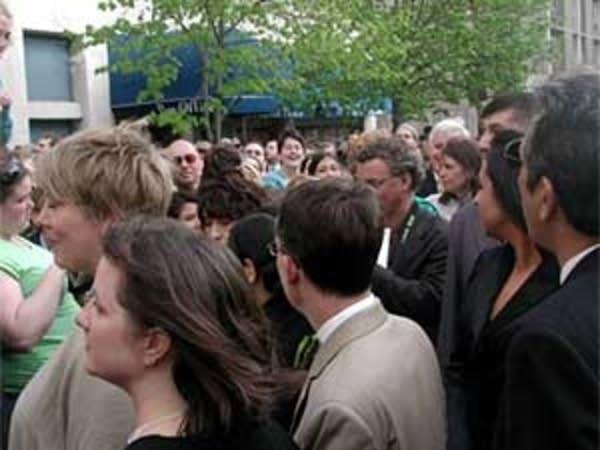 A crowded scene