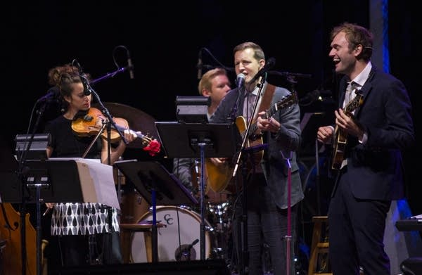 Chris Thile, with Chris Eldridge and Brittany Haas