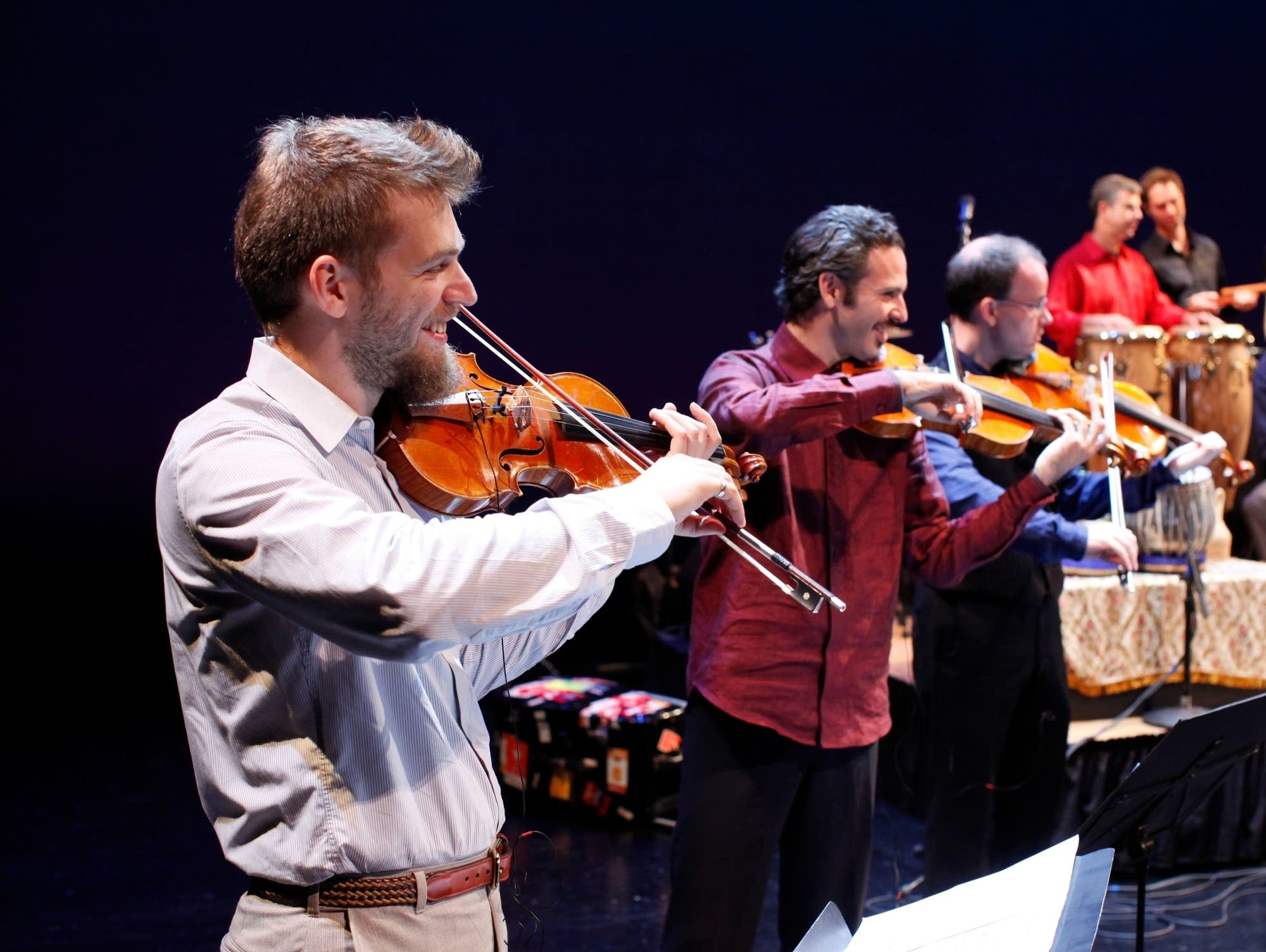 Johnny Gandelsman (left), Silk Road Ensemble