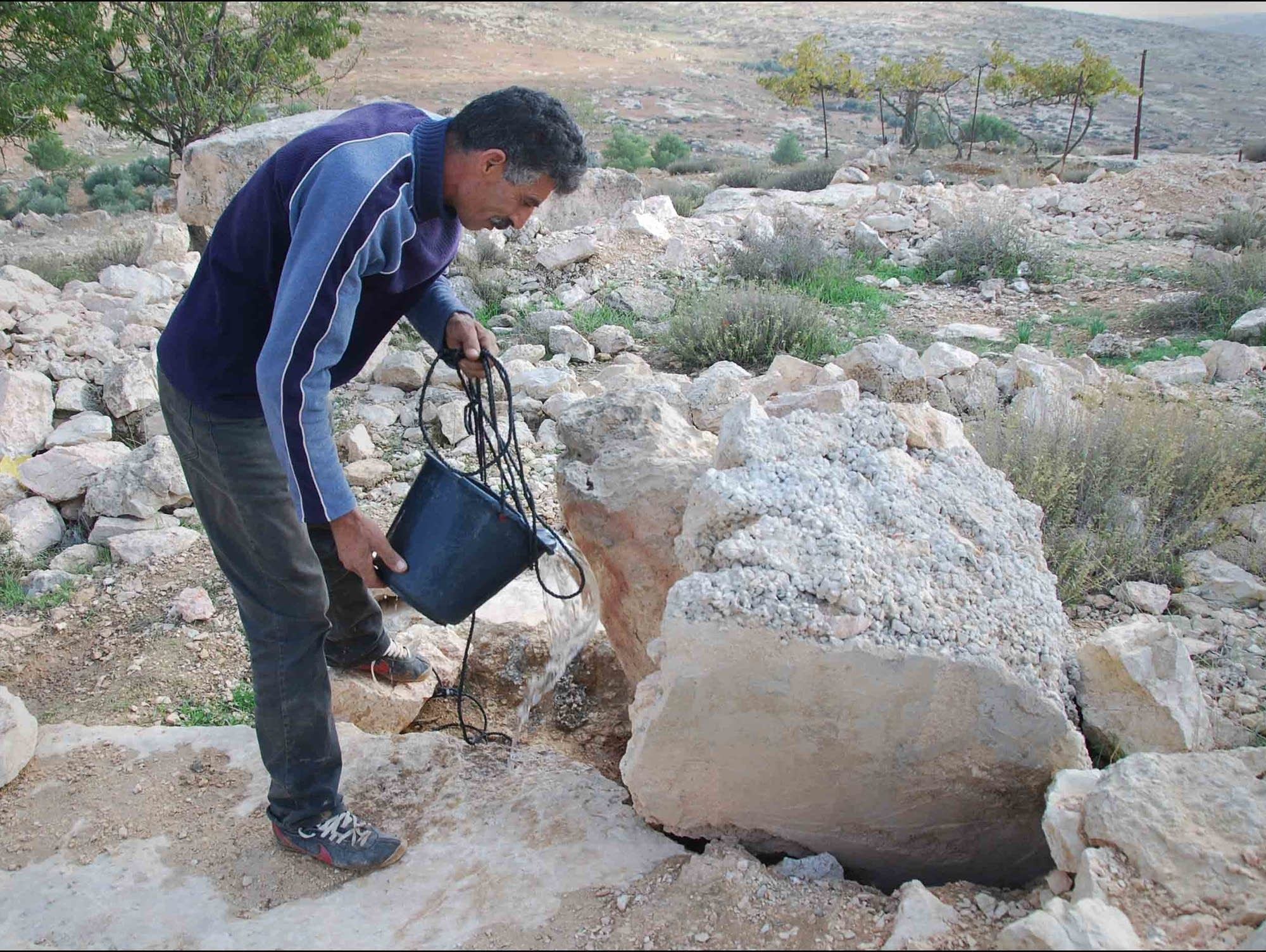 Palestinian farmer Azam Nawajaa