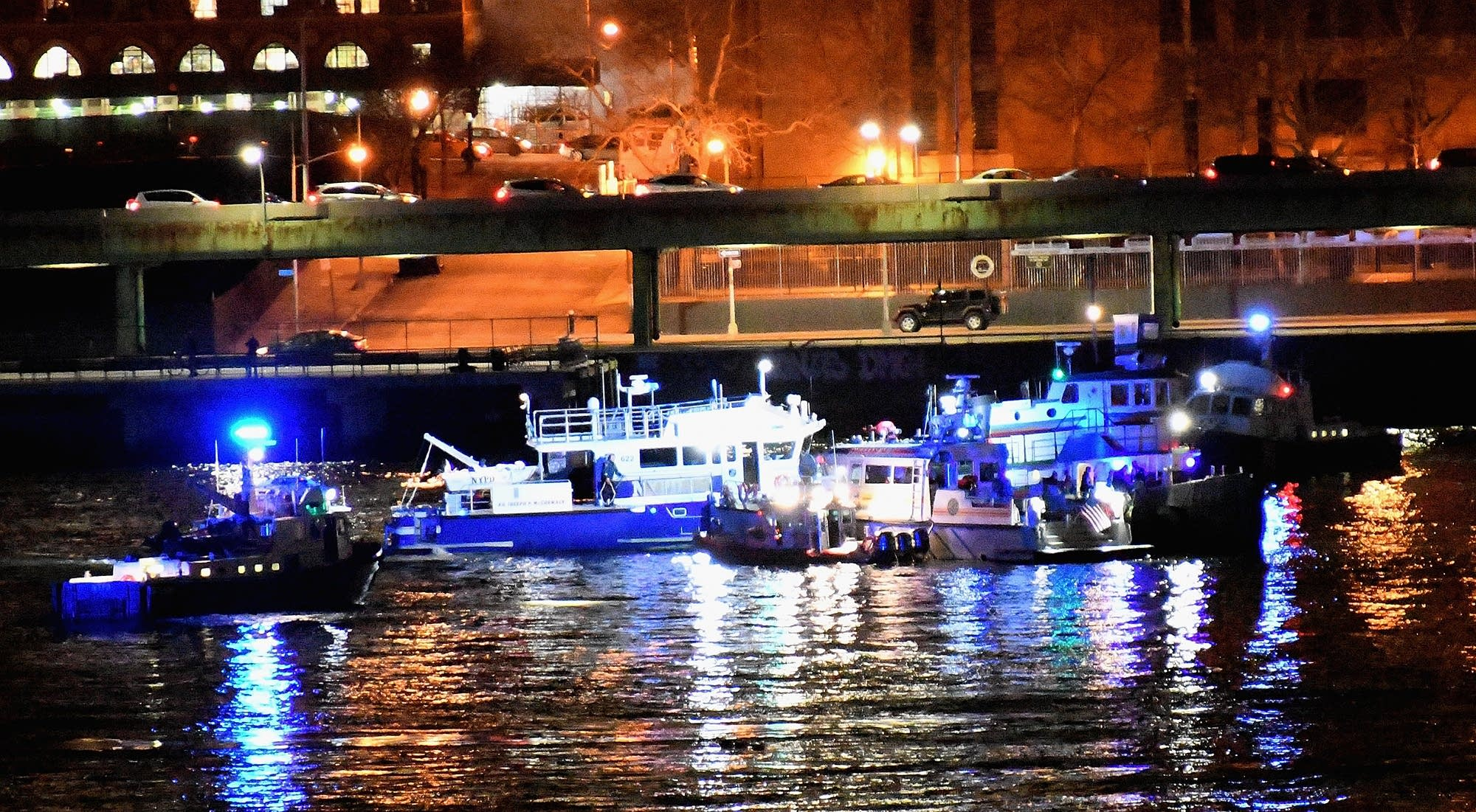 A helicopter crashed into New York City's East River