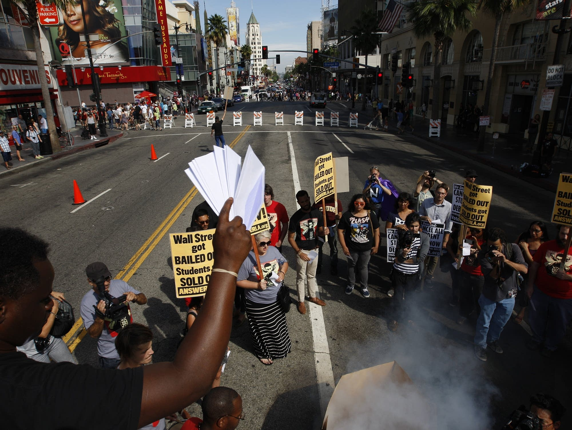 Activist Demonstrate Against High Cost Of College Education In U.S.