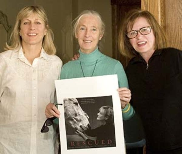 Karin Winegar, Jane Goodall, and Judy Olausen
