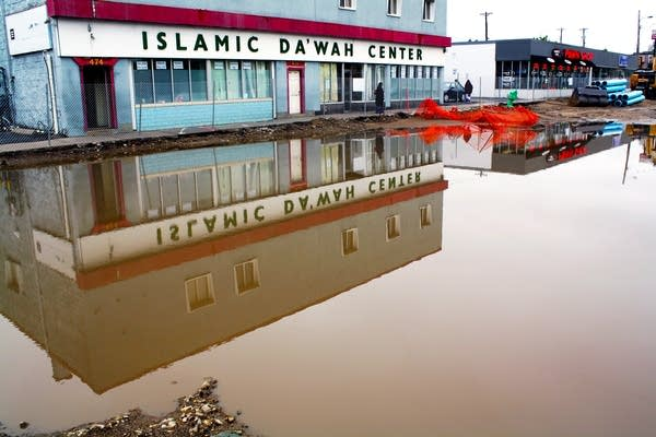 Mosque flooded