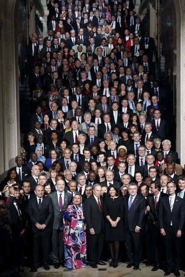 Mayors at the Paris climate talks